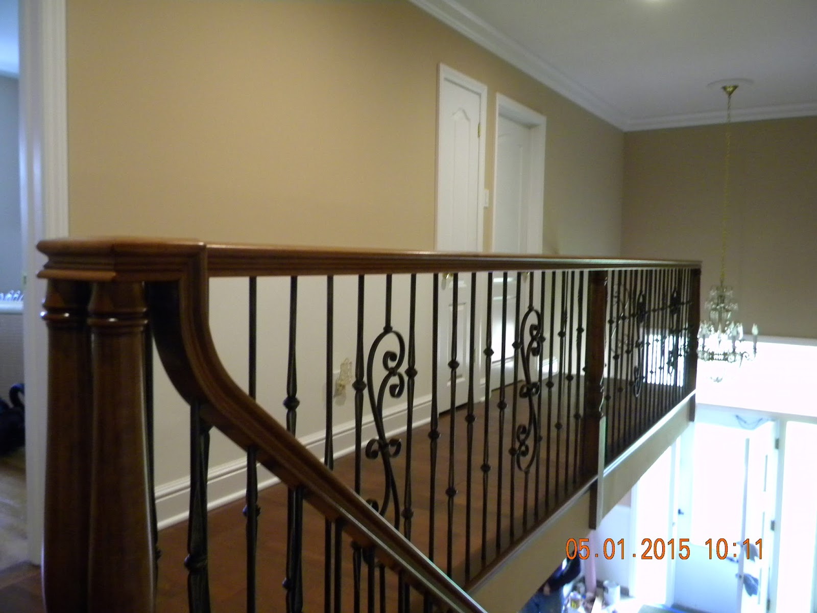 Wood Stairs And Rails And Iron Balusters 2015