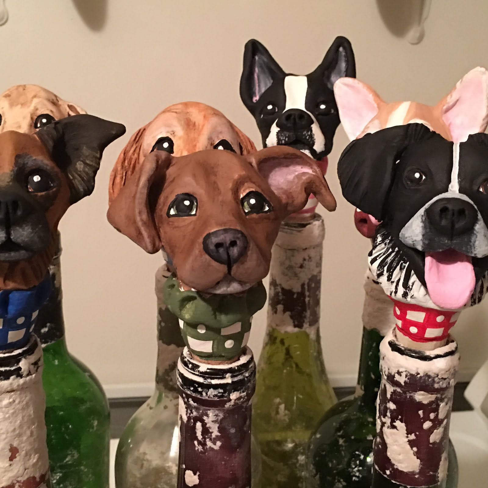 Custom Dog Wine Stoppers