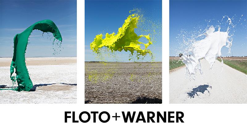 水しぶきの瞬間アート:FLOTO+WARNER