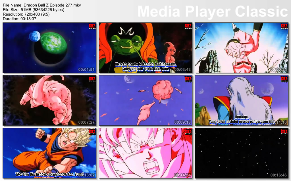 Film / Anime Dragon Ball Z Majin Buu Saga Episode 277 Bahasa Indonesia