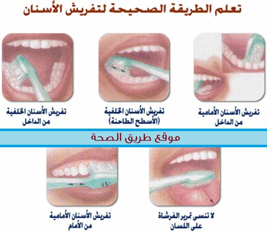 الطريقة الصحيحة لغسل الأسنان