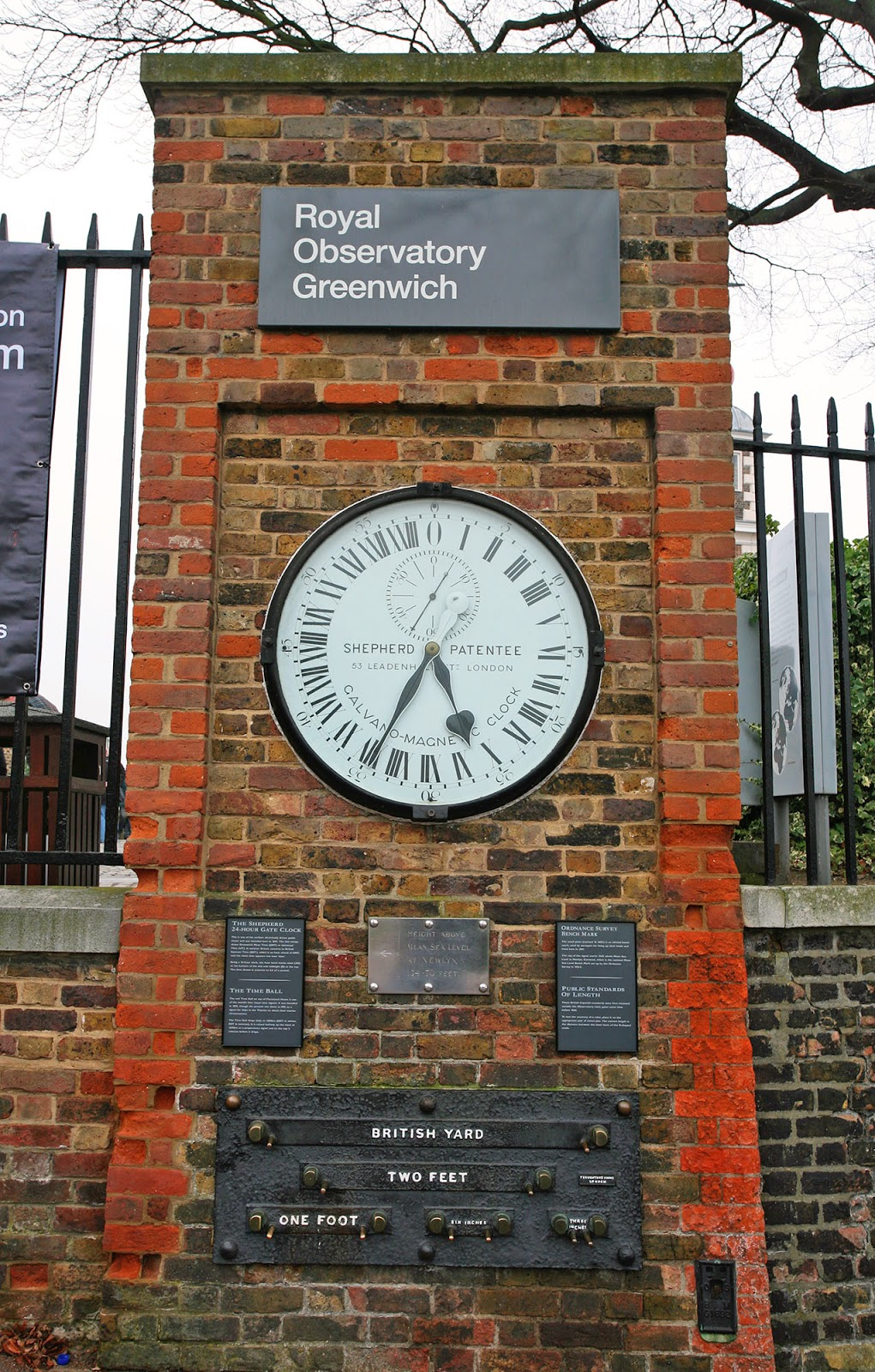Greenwich Meridian, Royal Observatory, London