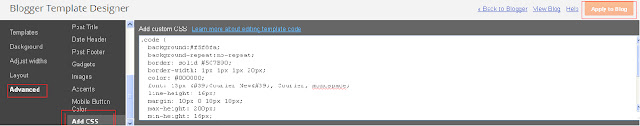 add html code in your blog in different box
