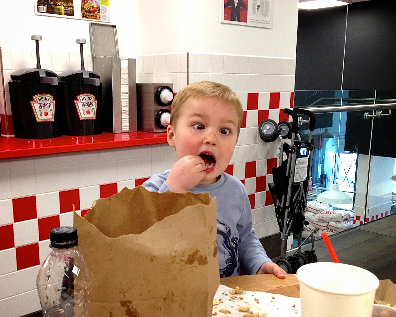 Going crazy (eyes) for Five Guys