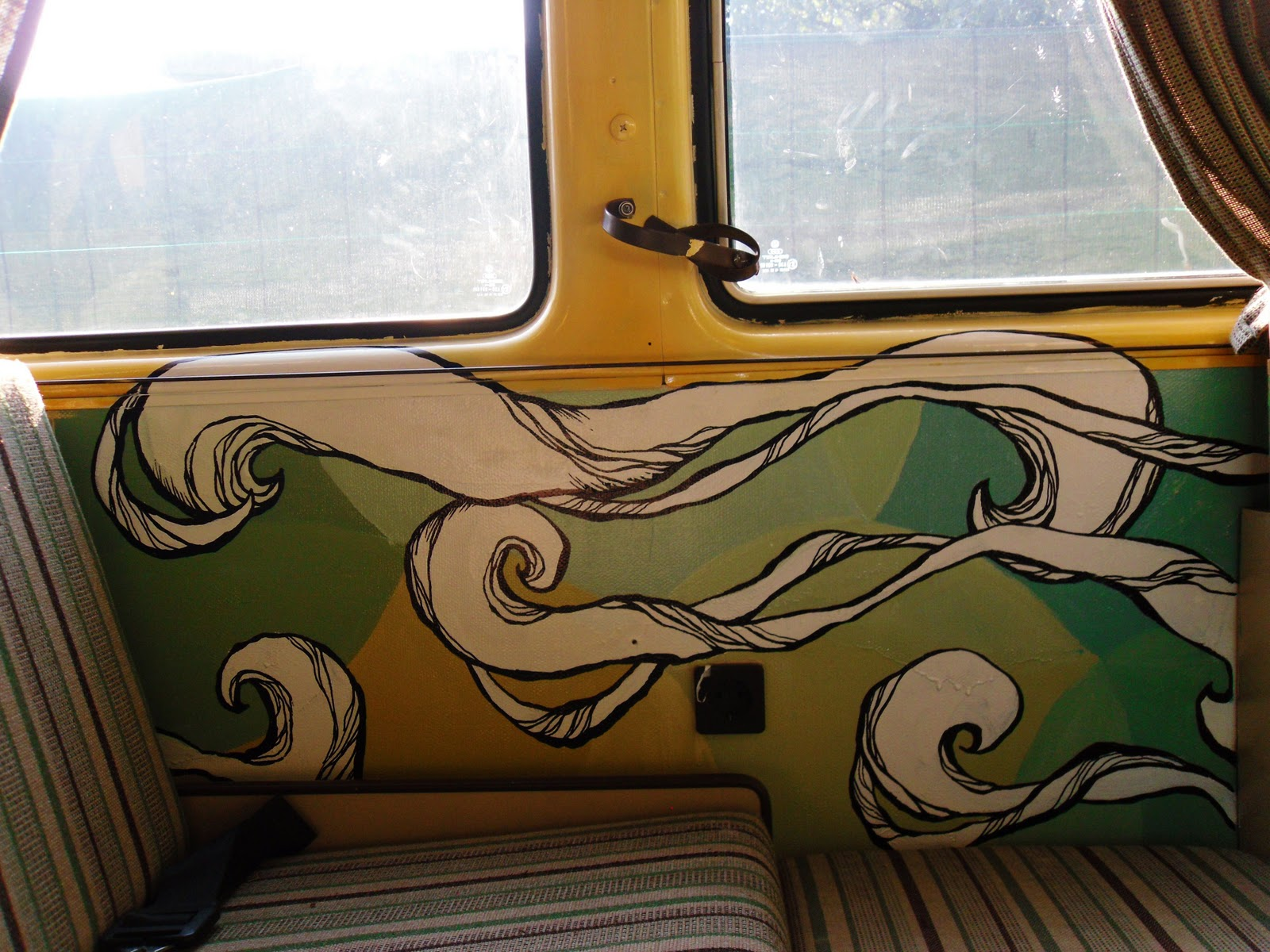 Sketchy notions the magic bus for Brandon boyd mural