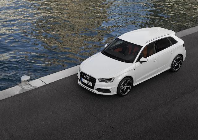 Audi A3 Sportback S line, Farbe: Gletscherweiß