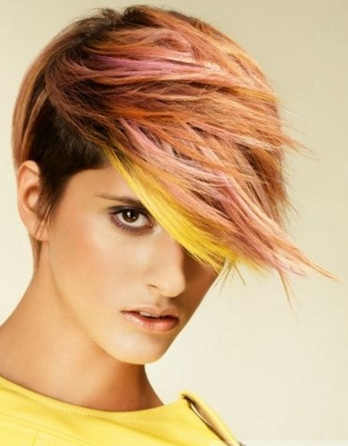 Voguish Colorful Hair Highlights 2014