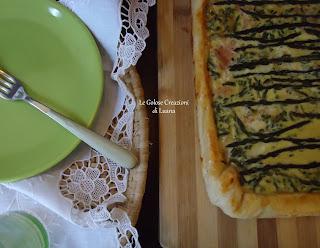 torta salata con asparagi e prosciutto...