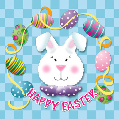 Easter bunny, free e-card for Easter download free wallpapers for Apple iPad