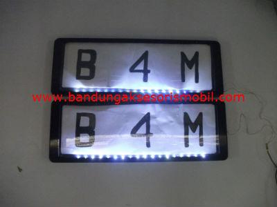 Plat Nomor Slim Lampu Putih