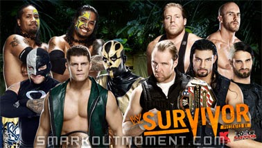 WWE Survivor Series 2013 Sole Survivor Elimination Order Match