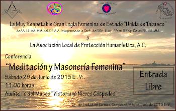 """Conferencia """"Meditación y Masonería Femenina"""""""