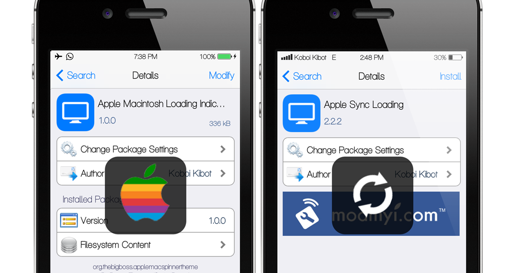 Theme Loading : Apple Sync Loading & Apple Macintosh