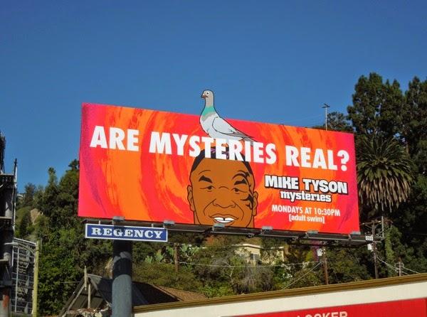 Mike Tyson Mysteries pigeon billboard