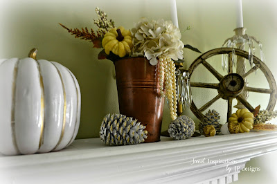 Touches of fall Mantel