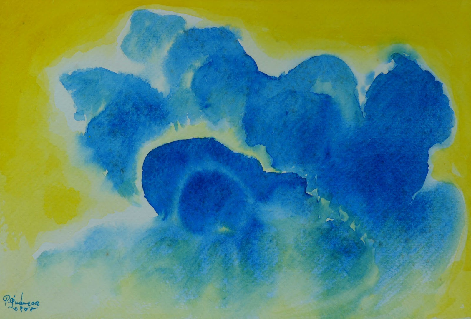 Abstract art by pracha inspiration of the clouds 1 for Inspirational paintings abstract