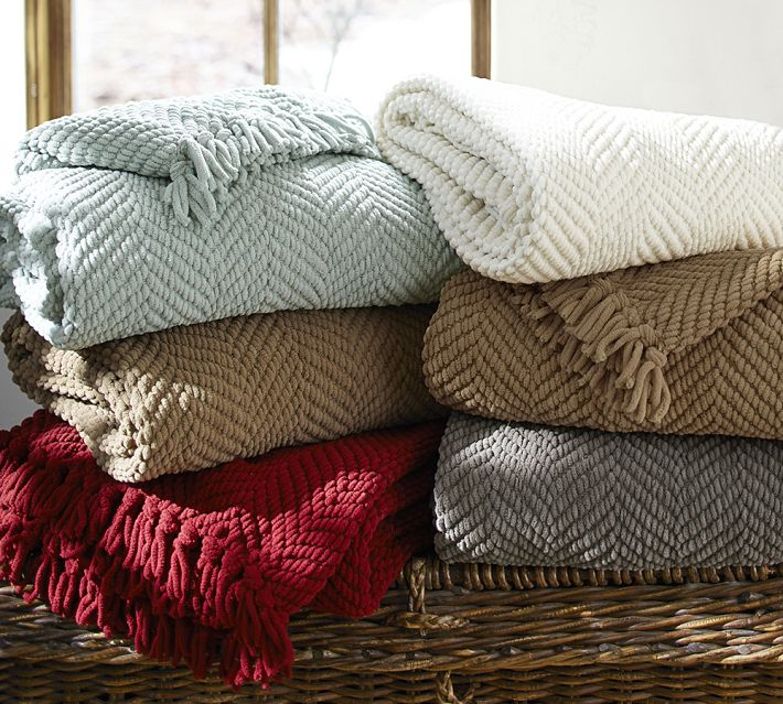 Pottery Barn Grand Chenille Throw