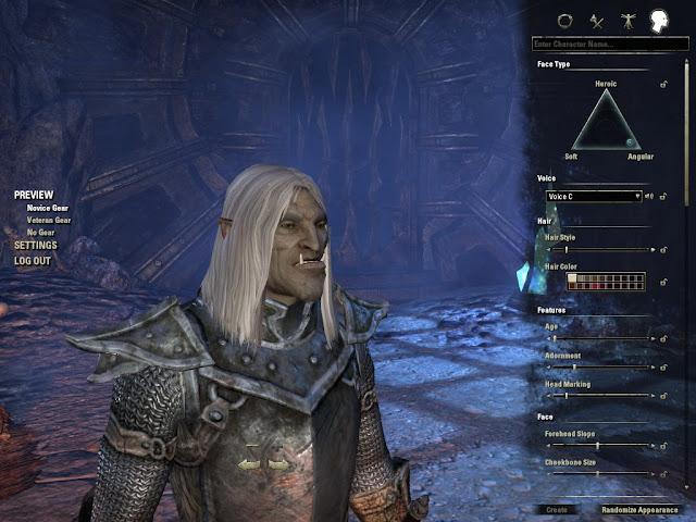 Elder Scrolls Online character generation