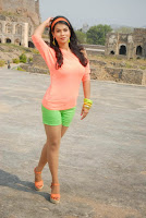 Actress Sharmila Mandre Latest Picture Gallery in Green Shorts 0006.JPG