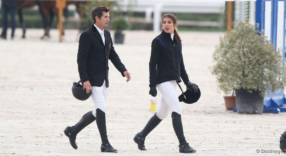 Charlotte Casiraghi and Guillaume Canet compete in the International Jumping in Cagnes,