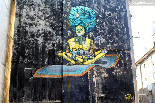 Pixel Pancho graffiti
