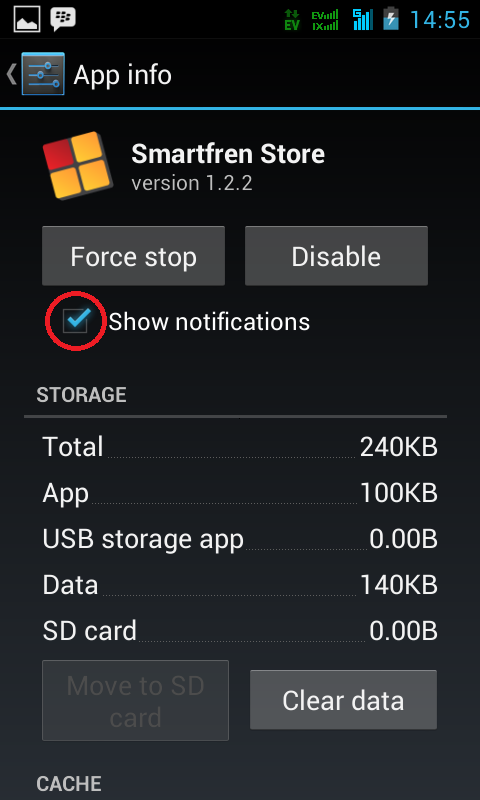 Show Notification Setting of Android Apps