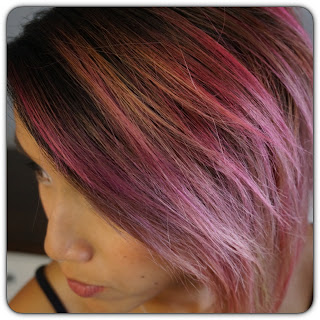 Pink, orange, yellow hair gradient