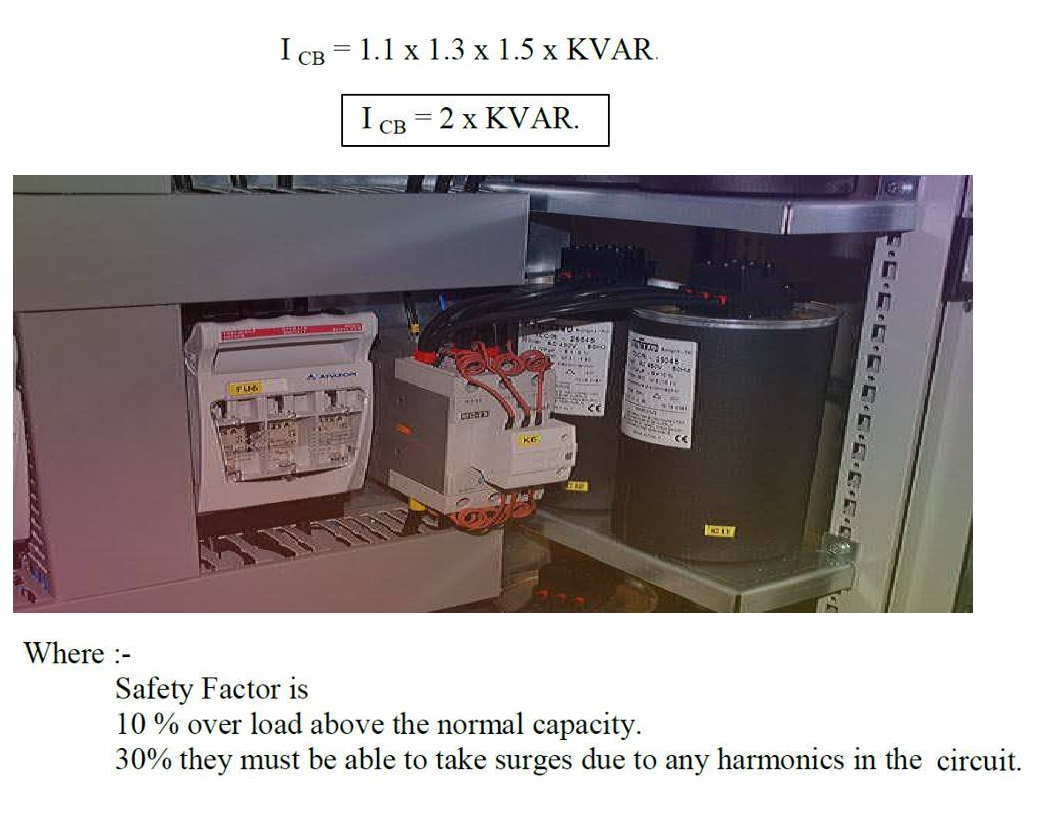 How To Calculate Main Circuit Breaker Of Capacitor Bank
