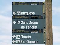 Indicador a Burguesa, Sant Jaume de Fonollet, Torrats i els Quinaus