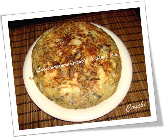 La cocina casera de conchi tortilla paisana con patatas for La cocina casera
