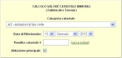Iuristoolbar gennaio 2012 - Calcolo valore commerciale immobile ...