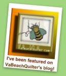 I've Been Featured in VABeach Quilter's Blog!