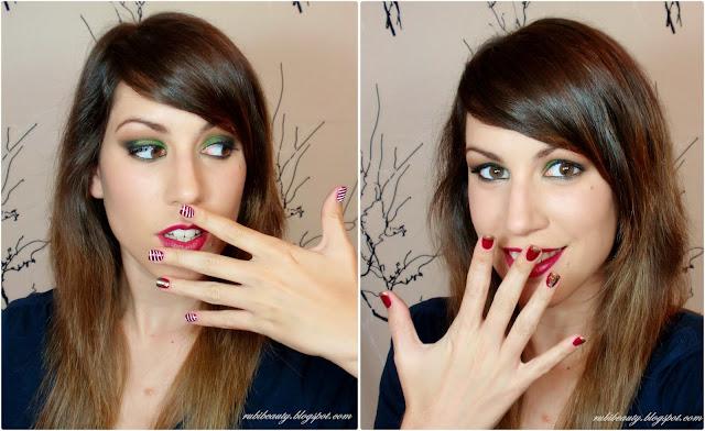 rubibeauty tutorial maquillaje navidad fin de año verde christmas look makeup nail art manicura