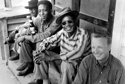 Luke 'Long Gone' Miles, Lightnin' Hopkins e Chris Strachwitz