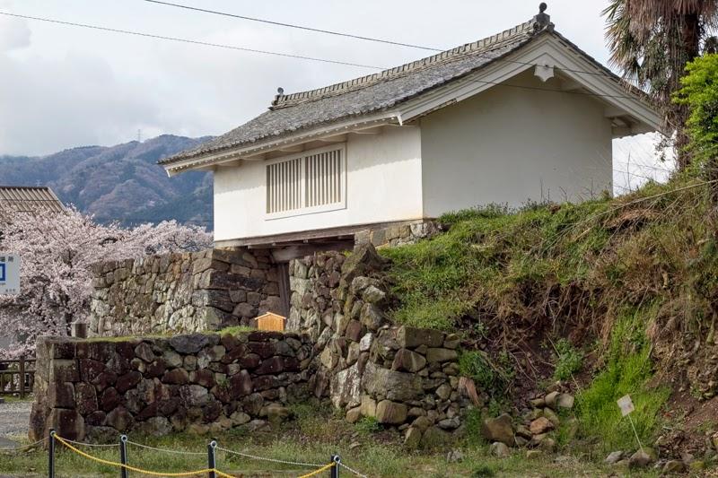 Tower gate and stone wall of Takenaka Jinya