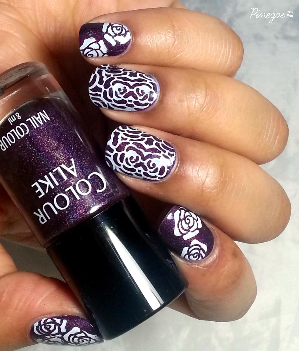 Colour Alike 502 & Stamping Roses BP 03
