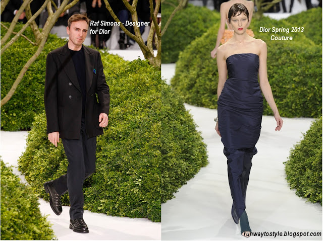 Raf Simons at Dior Spring 2013 Couture - Original navy dress of collection