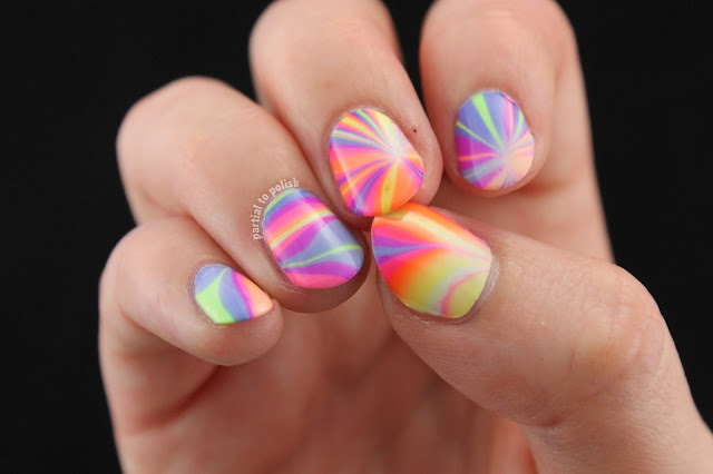 Rainbow Water Marble Using the Girly Bits Hoop! There It Is Collection