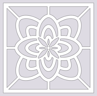 tile flower free paper cutting pattern