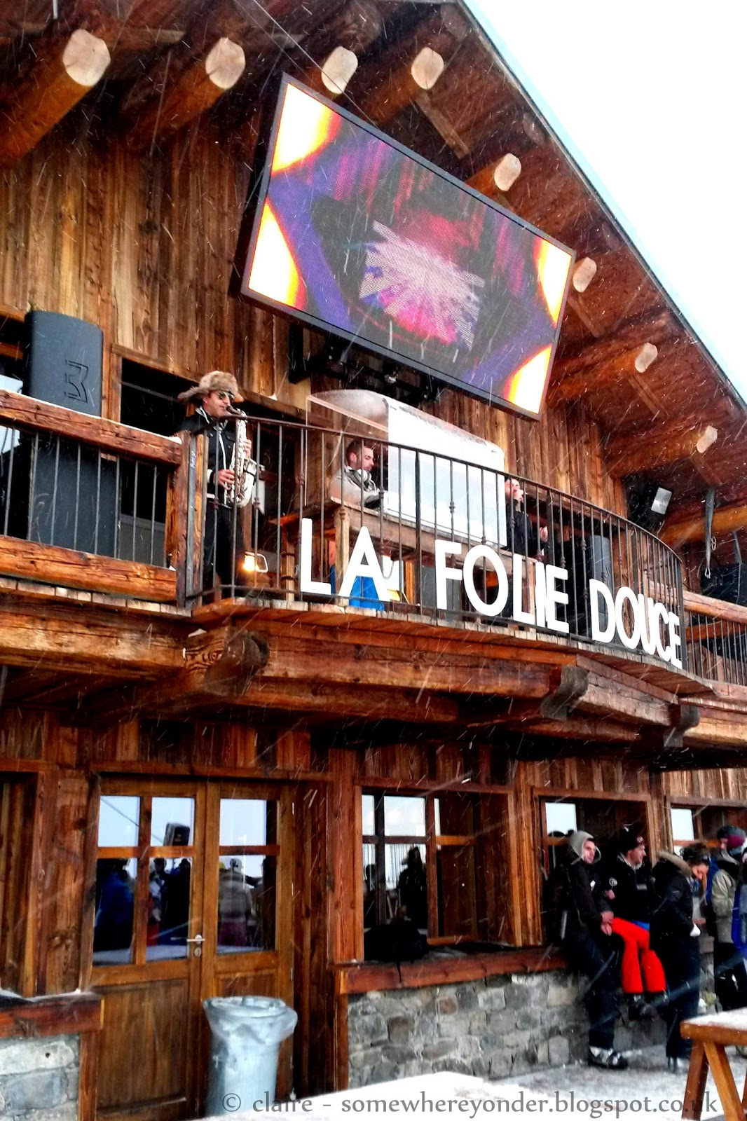 DJ at La Folie Douce - Val Thorens, France