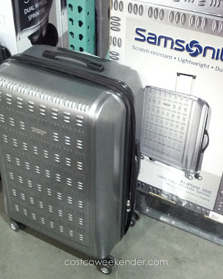Samsonite Hardside Protection Spinner Luggage features 4 wheels for easy maneuverability and ease of use