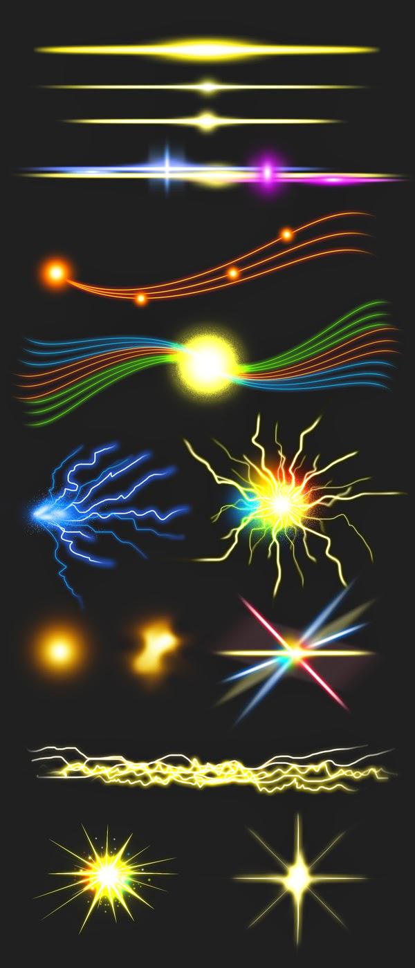 14 Sparkle & Light Effects PSD