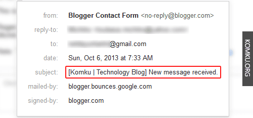 email subject