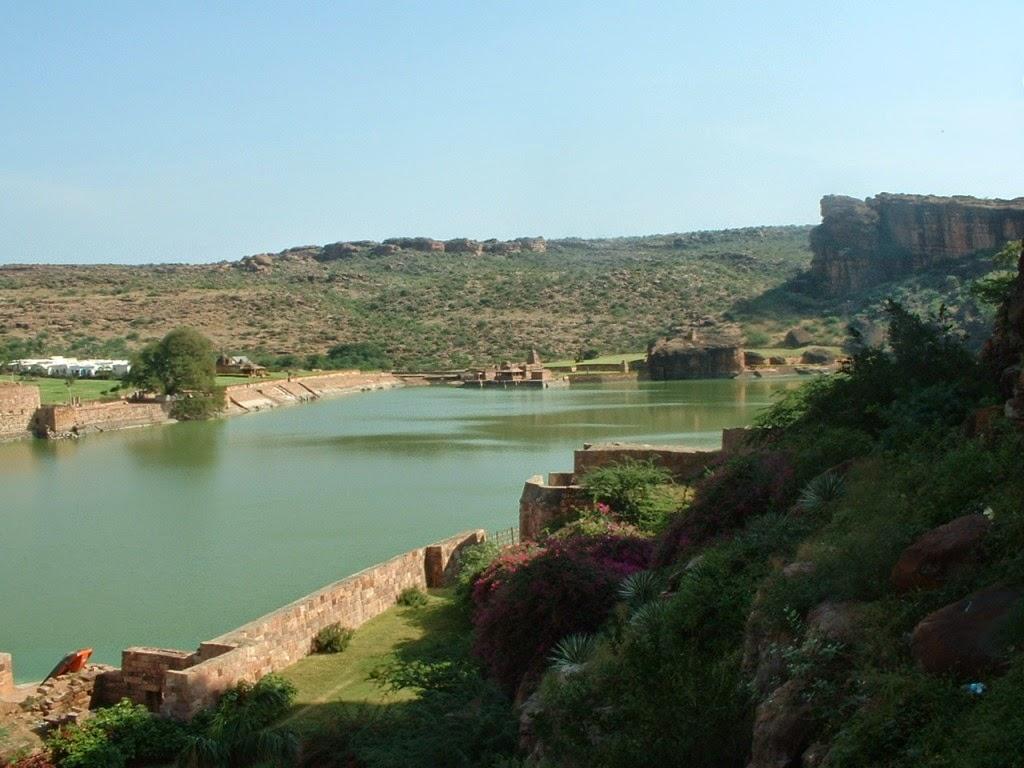 Water, Karnataka, Badami caves
