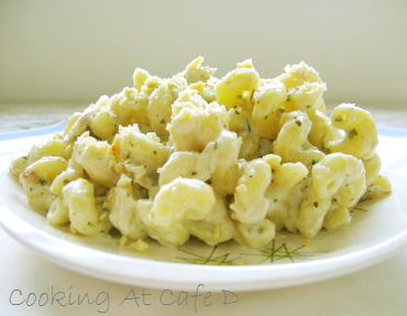 Corner Bakery's Chicken Pesto Cavatappi - Quick Easy recipe