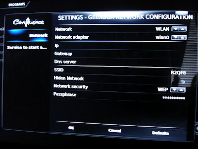 GeeXbox Network Configuration