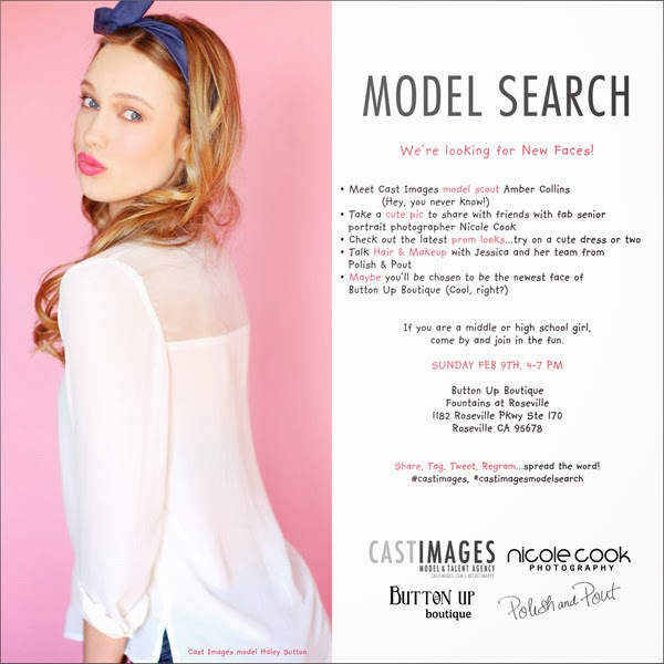 Cast Images Model Search Flyer