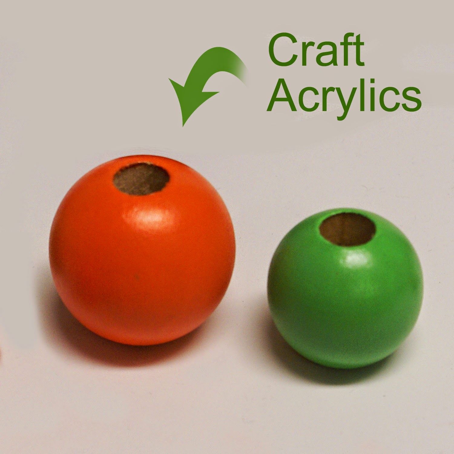 Craft acrylic painted beads will require a gloss coat finish.