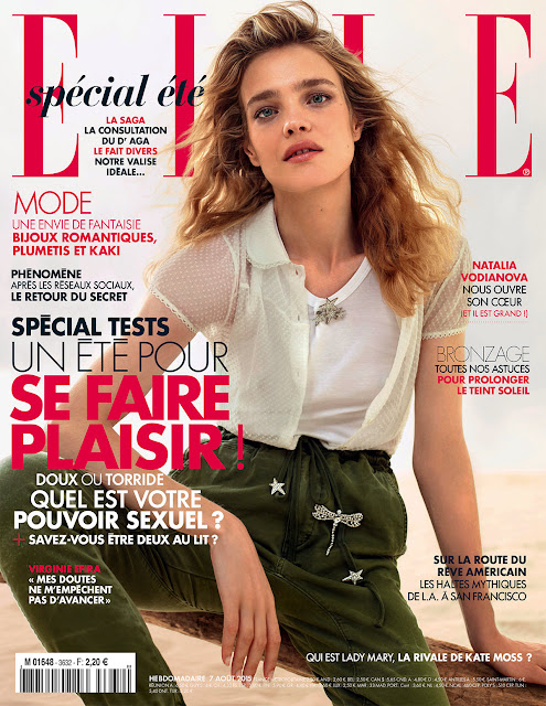 Actress, Model @ Natalia Vodianova by Jean-Baptiste Mondino for Elle France, August 2015