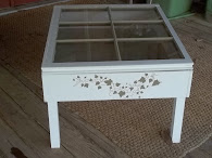 Coffee Table w/ antique window